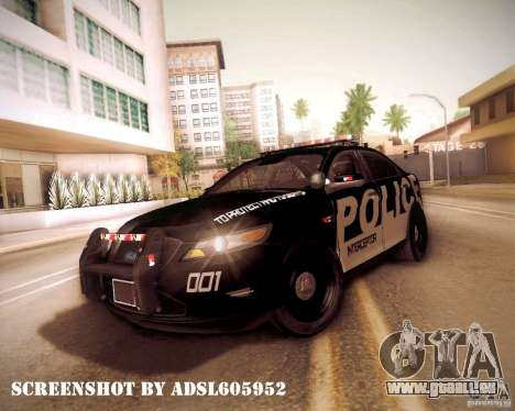 Ford Taurus Police Interceptor 2011 pour GTA San Andreas