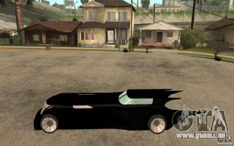 Batmobile Tas v 1.5 für GTA San Andreas linke Ansicht