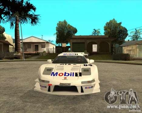 2001 Honda Mobil 1 NSX JGTC pour GTA San Andreas vue arrière
