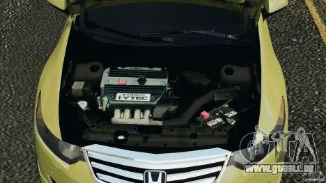 Honda Accord Type S 2008 pour GTA 4 est une vue de l'intérieur