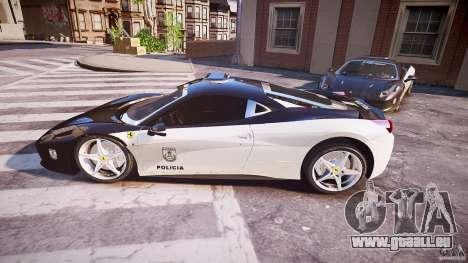 Ferrari 458 Italia - Brazilian Police [ELS] für GTA 4 linke Ansicht