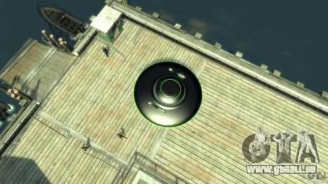 UFO neon ufo green pour GTA 4 est un droit