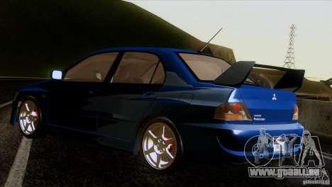 Mitsubishi Lancer Evolution IIIV für GTA San Andreas zurück linke Ansicht
