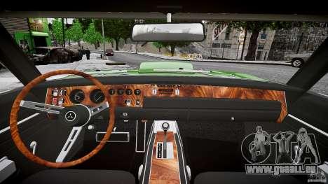 Ride basse de Dodge Charger RT 1969 tun v1.1 pour GTA 4 vue de dessus