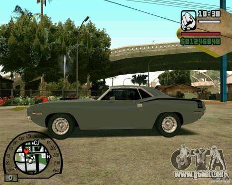Plymouth Hemi Cuda 440 für GTA San Andreas rechten Ansicht