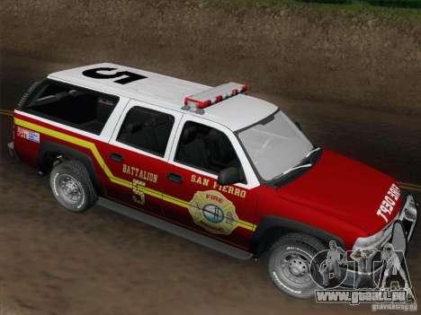 Chevrolet Suburban SFFD pour GTA San Andreas vue de côté