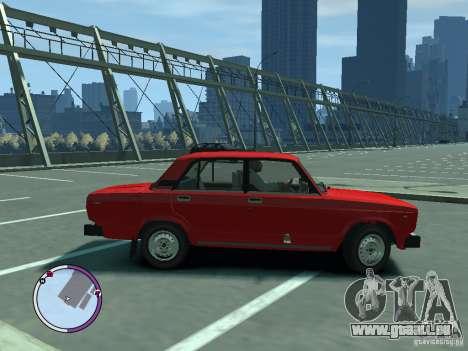 VAZ 2105 für GTA 4 hinten links Ansicht