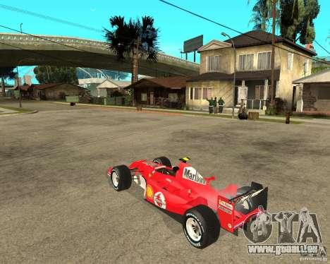 Ferrari F1 pour GTA San Andreas laissé vue