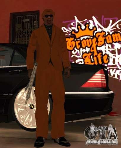 Bandes de remplacement, tatouages, vêtements, et pour GTA San Andreas sixième écran