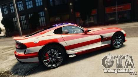Dodge Viper GTS 2013 pour GTA 4 Vue arrière