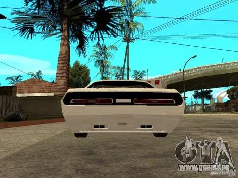 Dodge Challenger Speed 1971 pour GTA San Andreas sur la vue arrière gauche