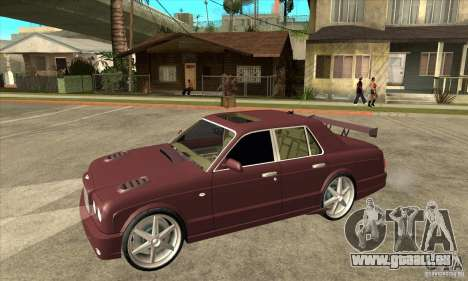 Bentley Arnage GT pour GTA San Andreas vue intérieure