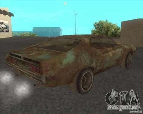 Ford Torino extreme rust 1970 pour GTA San Andreas laissé vue