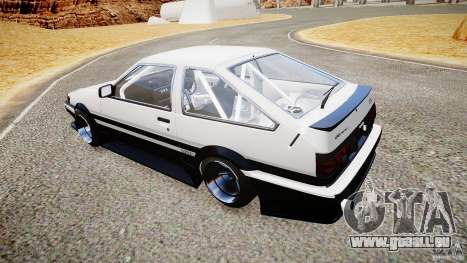 Toyota Corolla Levin AE86 v.1.0 pour GTA 4 est un droit