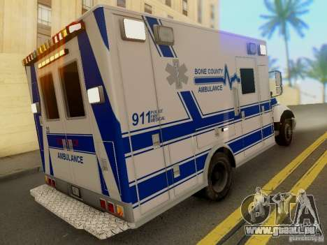 Freightliner Bone County Police Fire Medical für GTA San Andreas linke Ansicht