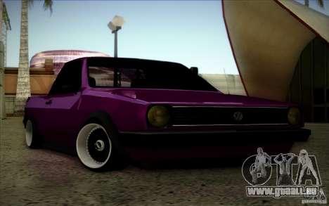 Volkswagen Polo Pickup pour GTA San Andreas vue intérieure