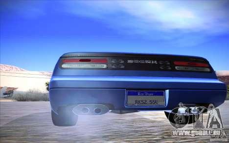 Nissan 300ZX Twin Turbo pour GTA San Andreas vue intérieure