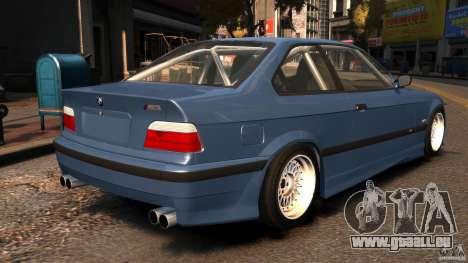 BMW M3 E36 FSC pour GTA 4 Vue arrière de la gauche