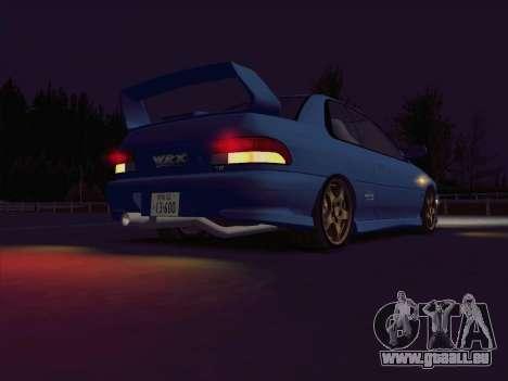 Subaru Impreza WRX GC8 InitialD pour GTA San Andreas vue de droite