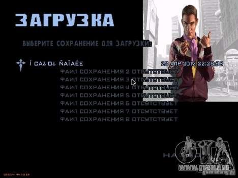 Écran de démarrage GTA 4 pour GTA San Andreas cinquième écran