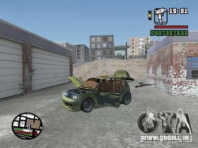 1111 OKA (tuning) pour GTA San Andreas vue de dessous