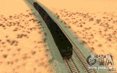 New Graffity Train für GTA San Andreas Rückansicht