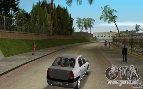 Dacia Logan 1.6 MPI für GTA Vice City rechten Ansicht