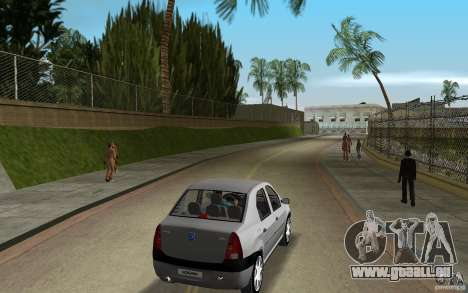 Dacia Logan 1.6 MPI pour une vue GTA Vice City de la droite