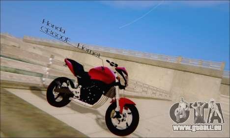 Honda CB600F Hornet 2012 pour GTA San Andreas laissé vue