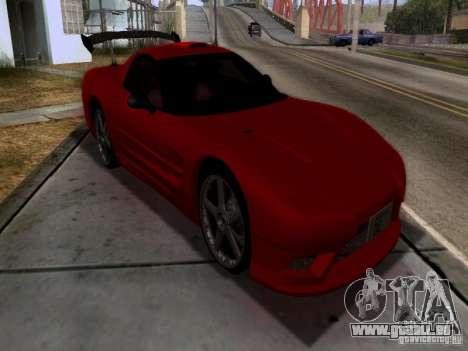 Chevrolet Corvette C5 für GTA San Andreas Innenansicht