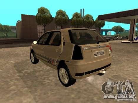 Fiat Palio 1.8R für GTA San Andreas obere Ansicht