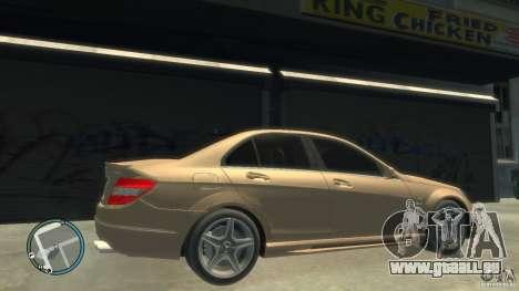 Mercedes-Benz C63 pour GTA 4 est une vue de l'intérieur