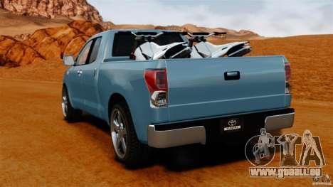 Toyota Tundra 2011 pour GTA 4 Vue arrière de la gauche