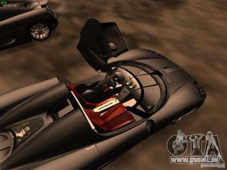 Koenigsegg CCXR Edition für GTA San Andreas obere Ansicht