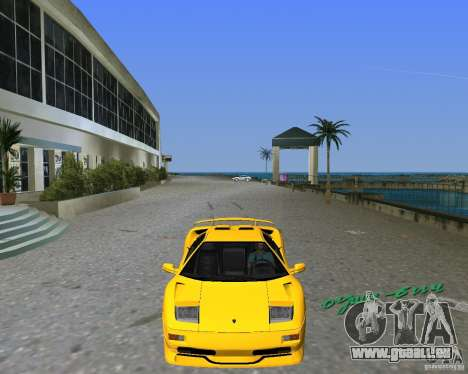 Lamborghini Diablo SV pour GTA Vice City sur la vue arrière gauche