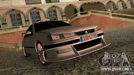 Peugeot 406 Taxi 2 für GTA Vice City linke Ansicht