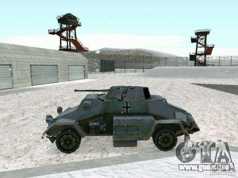 Transportpanzer des Spiels hinter den feindliche für GTA San Andreas rechten Ansicht