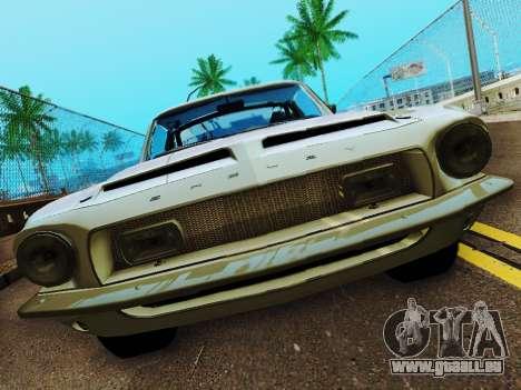 Shelby GT 500 KR für GTA San Andreas Innenansicht