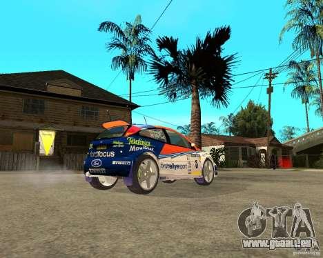 Ford Focus WRC 2002 pour GTA San Andreas sur la vue arrière gauche