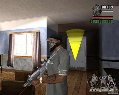 Visée laser Rifle pour GTA San Andreas deuxième écran