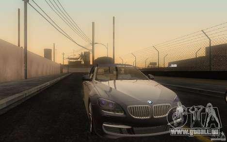 BMW 6 Series Gran Coupe 2013 pour GTA San Andreas vue intérieure