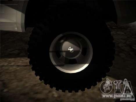 Dodge Ram 3500 4X4 pour GTA San Andreas vue de côté