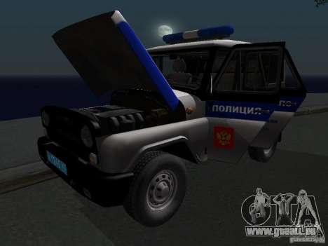 UAZ-315195 Hunter Police pour GTA San Andreas vue de côté