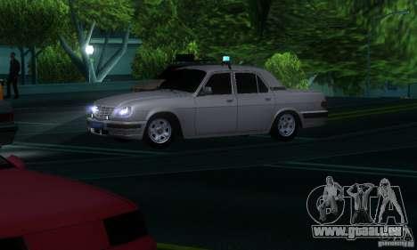 GAZ Volga 31105 Procureur pour GTA San Andreas vue intérieure