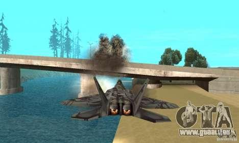 F-22 Starscream für GTA San Andreas Innen
