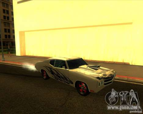 Chevy Chevelle SS Hell 1970 für GTA San Andreas Rückansicht
