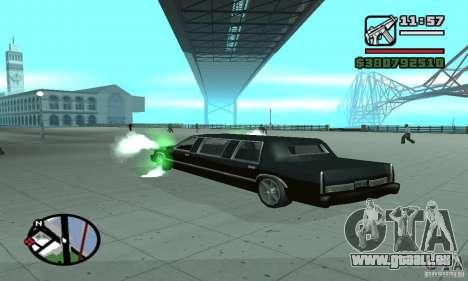 Purger, comme dans NFS pour GTA San Andreas deuxième écran