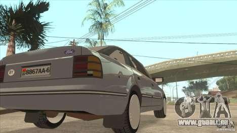 Ford Scorpio pour GTA San Andreas vue arrière