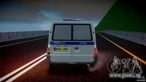Ford Transit Polish Police [ELS] für GTA 4 Unteransicht