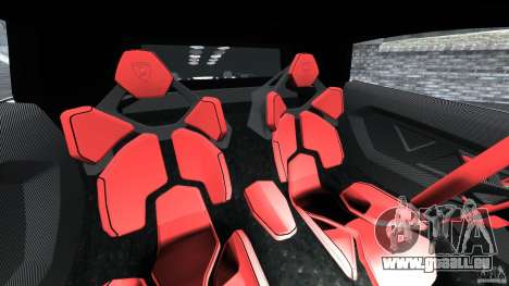 Lamborghini Sesto Elemento 2011 Police v1.0 RIV für GTA 4 Innenansicht